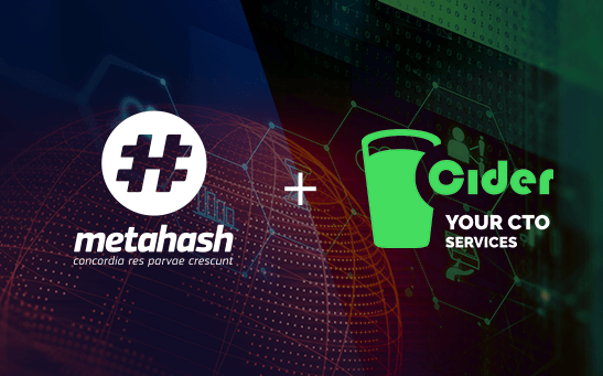 #MetaHash and Cider sign technologic partnership