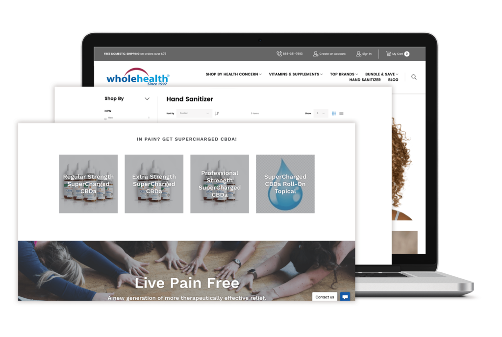 wholehealth e-commerce store portfolio