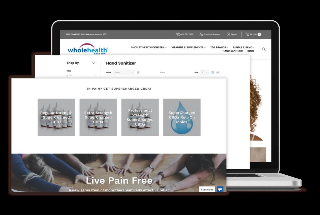 wholehealth e-commerce store portfolio